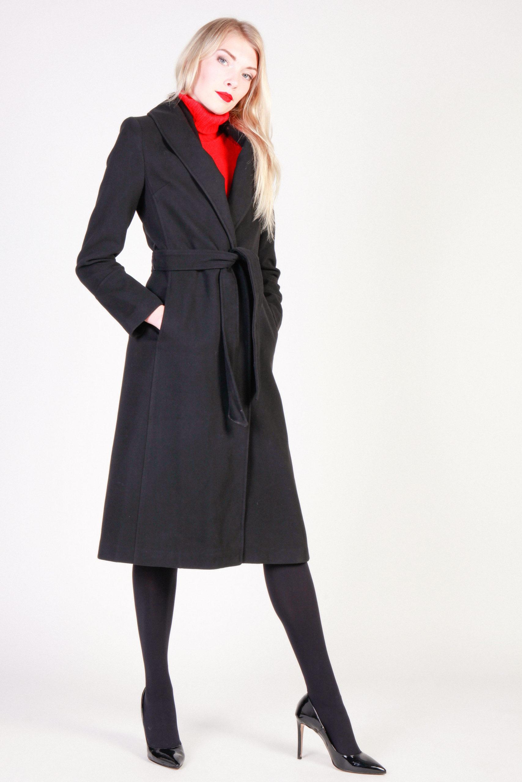 long coat with a belt