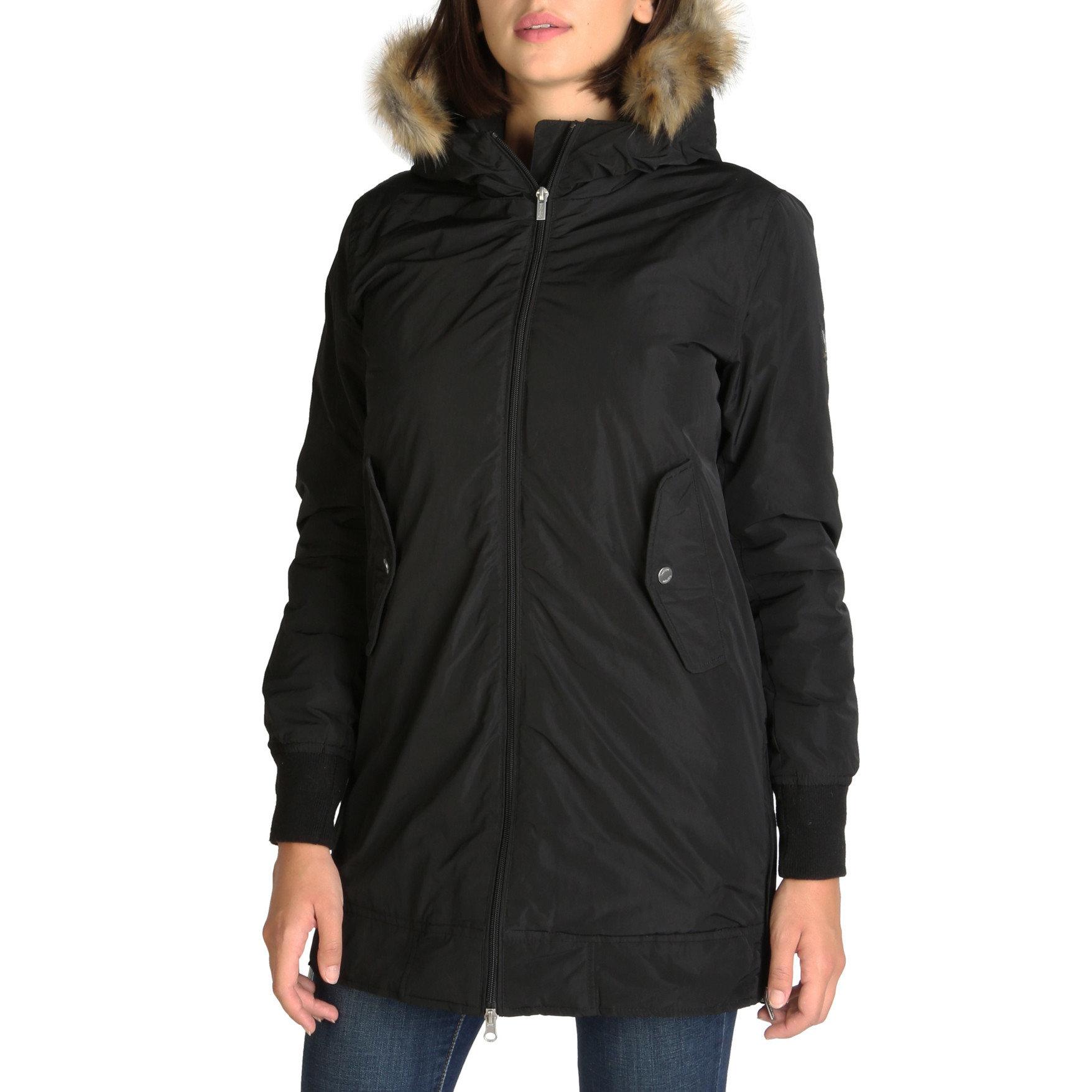 long jacket with a furry hood