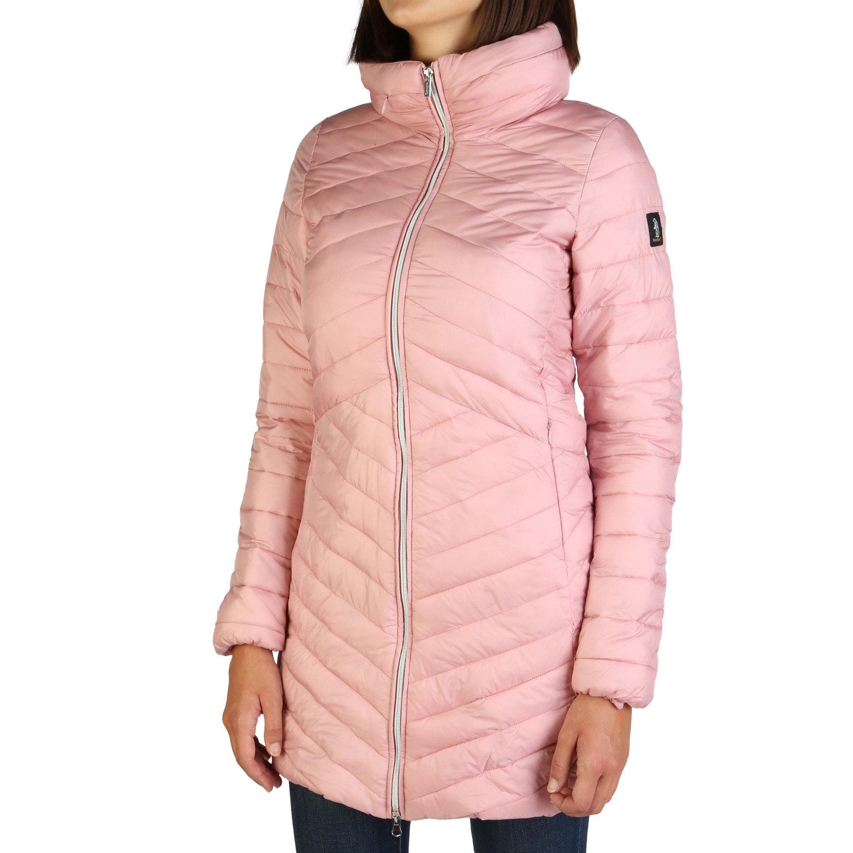 long pink waterproof jacket