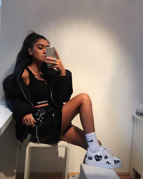 Clubbing outfits with sneakers